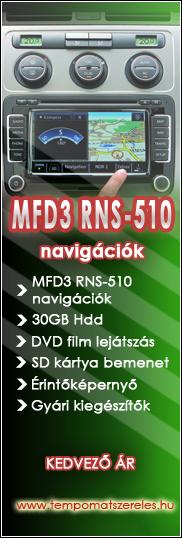 Gyári MFD3 RNS-510 navigáció beszerelés akció, garanciával már 180.000 Ft-tól. Ugyanitt a navigációról kezelhető eredeti VW és Skoda Bluetooth-os és Premium telefonkihangosítók kedvező áron!